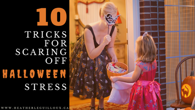 10 simple tricks @hleguilloux for keeping those Halloween stress levels to a minimum so that you can enjoy your evening of frights. #essentialoils #Halloween #holidaystress