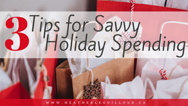 Learn savvy holiday spending tips to lower stress by creating a budget, finding extra spending money, and considering alternative ways of giving can help to lower your stress this holiday season so that you can enjoy what really matters. #holidays #savemoney #lowerstress