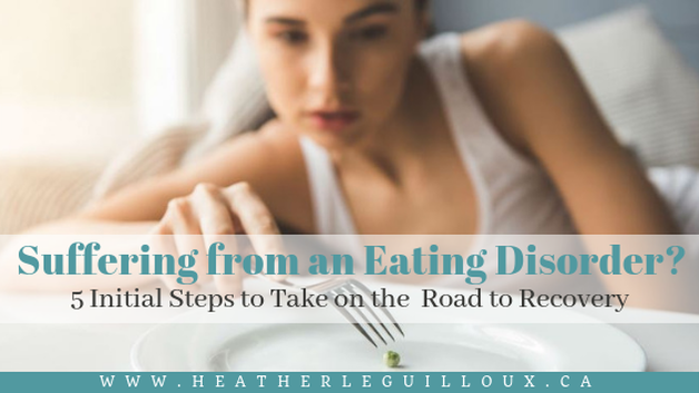 This guest article will share 5 quick, initial steps to take on the road to recovery from an eating disorder. This road can look different for everyone, and can take some time. #eatingdisorders #mentalhealth