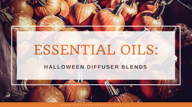 These Halloween essential oil diffuser blends will help you get into the mood for the spookiest holiday of the year. Includes pinnable recipe card for 4 spooky diffuser blends made with doTERRA essential oils. #essentialoils #natural #diffuser
