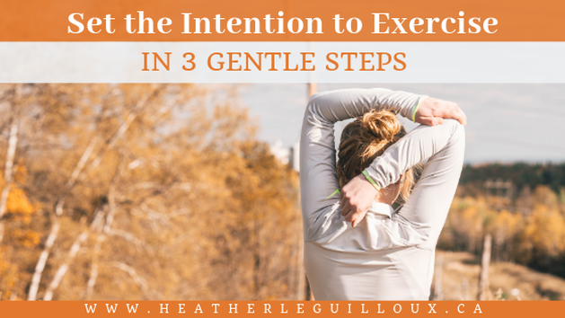 This article will explore the goal of exercising more by setting the intention to practice more movement in our every day lives in 3 gentle steps. You can also apply this method of creating small, actionable steps with any other goal you have decided on, as well. #exercise #fitness #goals