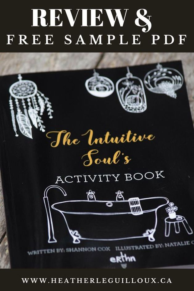 Review and free sample of the personal development book The Intuitive Soul's Activity Book written by Shannon Cox - a great read to increase your natural intuitive nature #personaldevelopment #book #selfcare