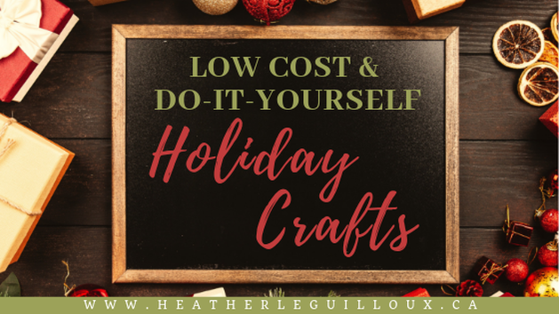 The holiday season can be a costly time of year but with a little imagination and some help from the world of blogging, you can learn how to create your own low-cost, do-it-yourself holiday crafts to share as gifts, centerpieces, or self-care options. #diy #holiday #crafts