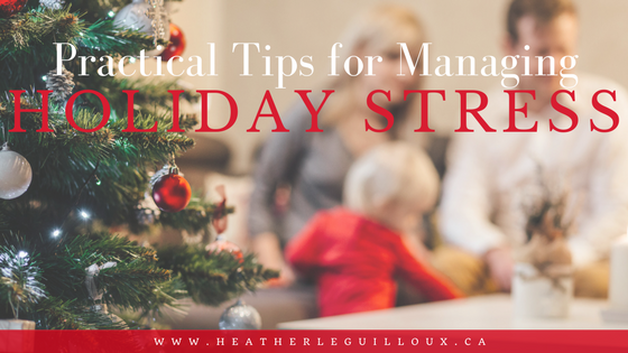 Round up post featuring blog posts that highlight practical tips for self-care, dealing with stress, planning for holiday finances and much more.