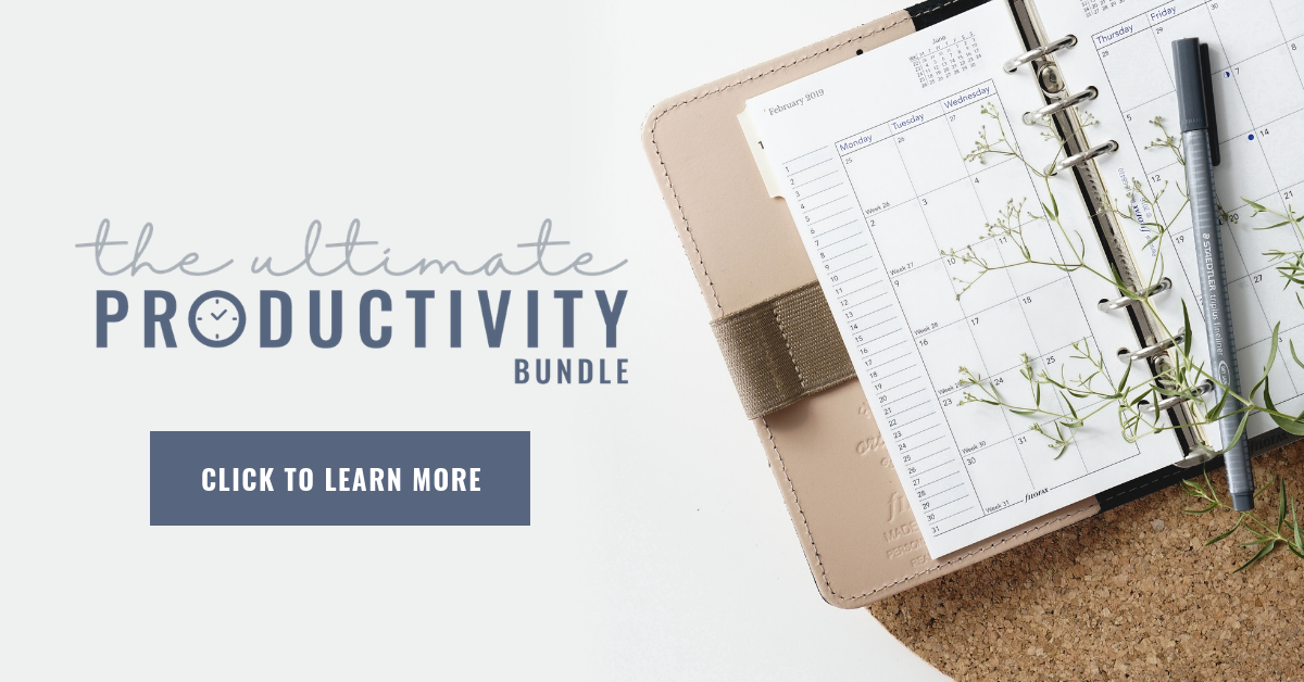 If you are looking for ways to be more productive and actually get those tasks on your to-do list done.. this article is for you! We'll explore three simple steps you can take to get your productivity on point so you can more easily achieve your goals. #organization #productivity #simplesteps